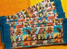 Adult Face Vintage Portrait Collie Shepherd Terrier Mask Blue Trim 100% Rescue