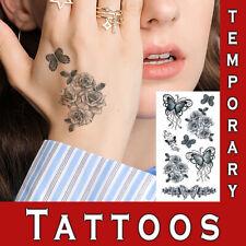 Temporary Tattoo Realistic Look Black Hand neck waterproof Body Art Sexy sticker