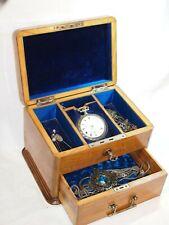 Coffret bijouterie montre d'homme  - En bois Avec Sa Clef - Très Bel état - XIX