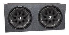 "Kicker 43C124 600 Watt 12"" Comp C12 Car Subwoofers, Pair + Sub Box Enclosure"