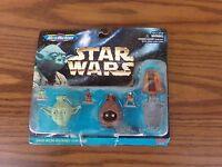 STAR WARS Micro Machines 68020 ~ Yoda, Jawa & Princess Leia Figure Heads NEW