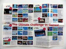 Sega Master System II Game Catalog Poster Recto Verso Original 41 X 30 CM