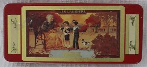 Rectangle Red Nestle Les Lauriers Coca-Cola Brand Tin