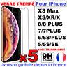 VITRE PROTECTION VERRE TREMPÉ FILM ÉCRAN POUR IPHONE 8 7 6 6S PLUS 5 X XR XS MAX