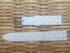 BRACELET MONTRE CAOUTCHOUC SILICONE /* WATCH BAND BLANC 20mm / REF.EV01
