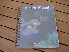 Taschen Diary 2002 Claude Monet Art Not Used Collectable GSP