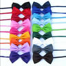 Baby Boy Bow Tie Kids Infant Solid Color Wedding Tuxedo Bowties Bow Tie Neckwear