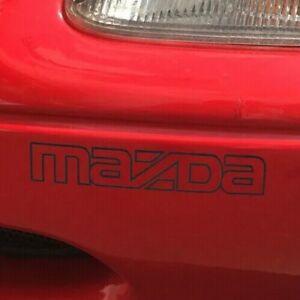 Mazda Mx5 Eunos Front Bumper Badge Sticker, Early MX5 /  Eunos Mk1 - BLACK