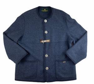Women's Giesswein Austria Blue Wool Blend Jacket Coat Size EU 50 AUS 20-22