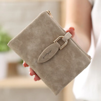 Women's Short Small Wallet Leather Folding Coin Card Holder Money Ladies Purse