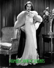 ADRIENNE AMES 8X10 Lab Photo Sexy Elegant Gown, High Fashion Fur Shawl Portrait