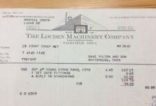 Louden Machinery Company Letterhead 1943 INV-P0060