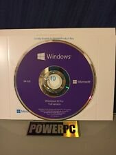 Genuine Microsoft Windows 10 Pro Professional 64 bit DVD + Product License Key