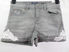 """Superdry Ladies Cut Off Shorts Grey 26"""" Waist / Size Small rrp £42 box74 32 G"""