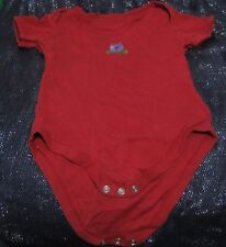 Great red boys vest under poppers Cat dog image Little Man by George 18-24 month