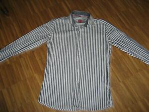 pure H.TICO Hemd weiß mit schwarzen Streifen, Gr. S, kaum getragen