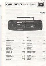 Grundig Service Anleitung Manual RR 1400  B510