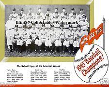 1945 DETROIT TIGERS WORLD SERIES CHAMPIONS BASEBALL TEAM 8X10 PHOTO #2