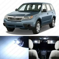 10 x White LED Interior Lights Package For 1998 - 2013 Subaru Forester +PRY TOOL