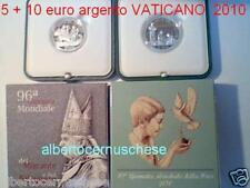 5 + 10 EURO argento proof VATICANO 2010 Vatican Vatikan