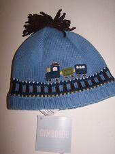 NWT GYMBOREE CHOO CHOO BABY BLUE TRAIN WINTER HAT 3-6 mo  Free US Shipping