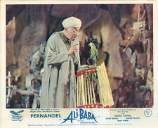 ALI BABA AND THE FORTY THIEVES ORIGINAL LOBBY CARD FERNANDEL WITH PARROTT