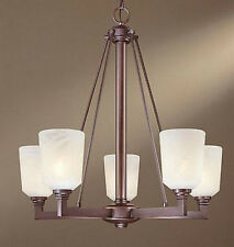 Minka Lavery 1345-143 Vival Collection Oil Rubbed Bronze 5-Light Up Chandelier