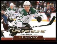 2020-21 UD Series 1 Canvas Young Guns #C119 Thomas Harley RC - Dallas Stars