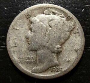 1928-D 10c Mercury Dime - 90% Silver