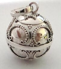 small 14mm 925 Sterling Silver Harmony Ball Bell jingle chime Charm Pendant Hm28