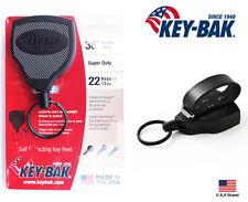 "Key-Bak SUPER48 Retractable Key Holder Leather Belt Loop Super Duty  36"" Cord"