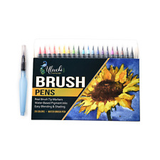 Watercolor Brush Pen Art Markers - Primary Colors ( 20 Pack + Water Brush Pen )