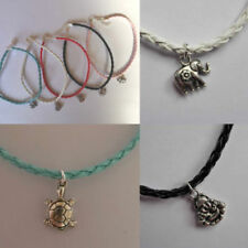 """Handmade Leather 9 - 9.99"""" Length Costume Anklets"""