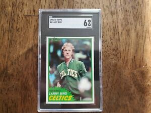 Larry Bird 1981-82 Topps Basketball Card 4 SGC Graded 6 EX NM Boston Celtics
