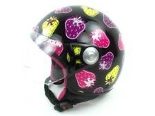 Freegun Ski Helmet Snowboard Helmet Jet Black Hard Case Visor Strawberries