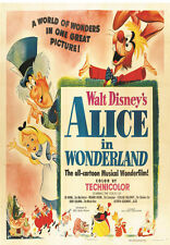 Alice in Wonderland Disney cartoon movie poster print #38