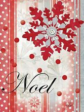 NOEL - WINTER HOLIDAY - MINI GARDEN FLAG - BRAND NEW 12x18 CHRISTMAS 0049
