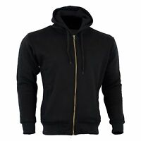 Motorcycle made with  Kevlar  Armoured Fleece Hoodie  Lined  paded Protection