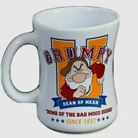 Disney Grumpy porcelain coffee cup mug dean of mean home of the bad mood dudes