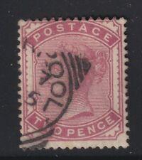 Great Britain SG 168a Scott 81a 1880 2d Deep Rose Victoria CV £110
