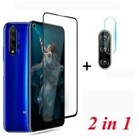 For Huawei Nova 5T Full Cover Tempered Glass Screen Protector+ Camera Lens Film