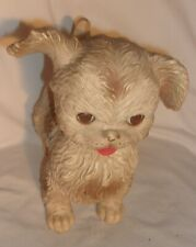 VINTAGE EDWARD MOBLEY RUBBER DOG SQUEAKS WITH SLEEP EYES WORKS HAS LIGHT WEAR