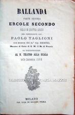 1863 TAGLIONI, BALLANDA. PARTE SECONDA. ERCOLE SECONDO. BALLO. BALLETTO LIBRETTI