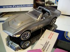 FRANKLIN MINT 1/24 1968 SILVER CHEVROLET CORVETTE W/ TOP AND DOCS VERY NICE