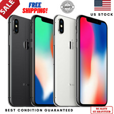 Apple iPhone X| 64/256GB| Factory Unlocked| ATT| Smartphone - GRADE A