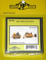 DURANGO 88 HO Scale Railroad Tie Cart with Tools Unpainted Metal Kit FREE SHIP