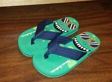 Boys HANNA ANDERSSON Flip Flops Size 11/12 EUC ~ Worn Once ~ Green & Blue