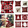 Christmas Pillow Case Sofa Car Pillowcase Throw Cushion Cover Xmas Home Decor