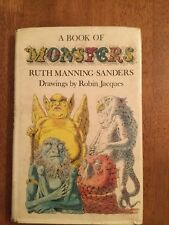 FIRST ED: A Book of Monsters Ruth Manning-Sanders Vintage Children's Folklore