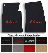 Chevrolet El Camino 2pc Classic Loop Carpet Floor Mats - Choose Color & Logo